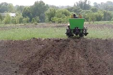 Механизированная посадка картофельных клубней