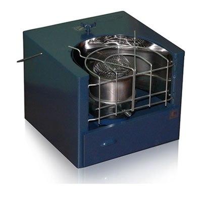 Мобильная печка, работающая на баллонном газе и соляре.