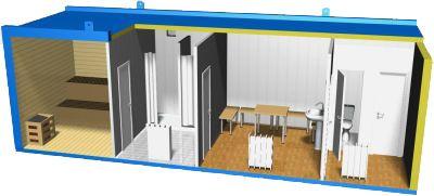 Модель бани из блок-контейнера