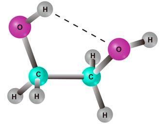 Молекула этиленгликоля