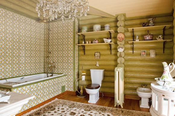 На даче можно оборудовать полноценную ванную комнату.