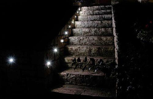 На фото - подсветка лестницы
