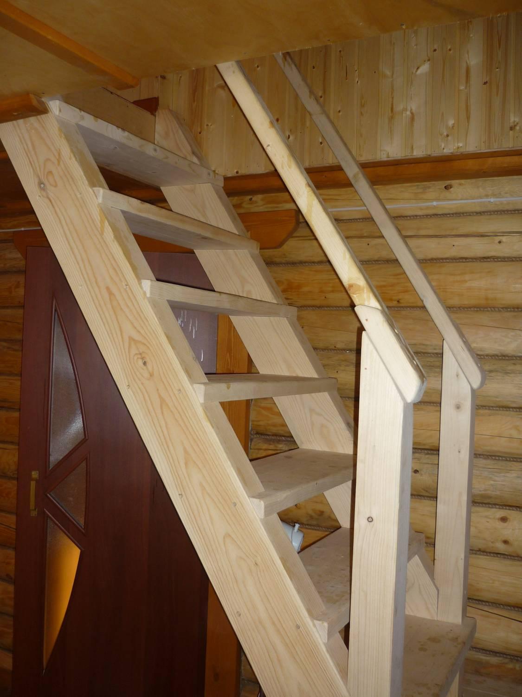 Дачную лестницу на второй этаж своими руками
