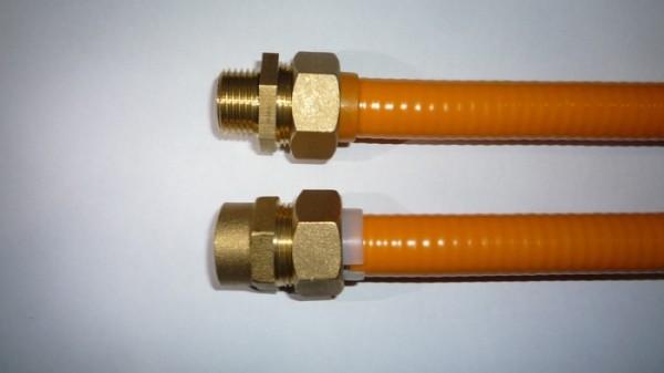На фото – газопровод из полимерной трубки