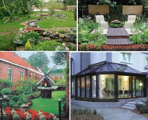 На фото – типы садов на дачном участке