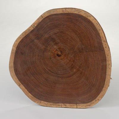 На свету срез древесины темнеет.