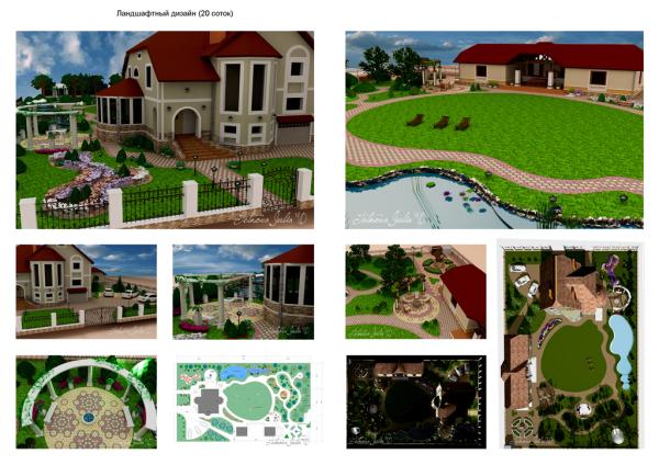 Некоторые примеры планировки дачного участка 6 соток