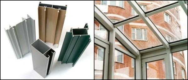 Несущий профиль может быть алюминиевым, металлопластиковым или деревянным