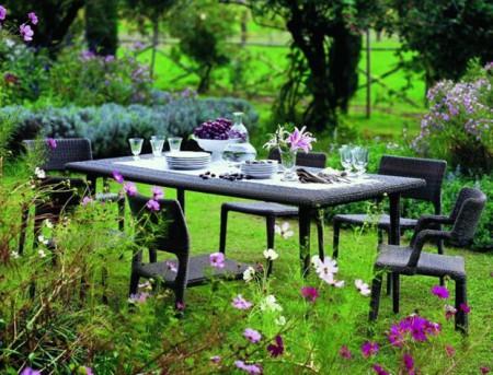 Обеденный столик под защитой деревьев