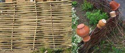 Ограждения из деревянных прутьев