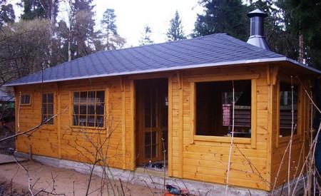 Охотничий проект легко превращается в гостевой домик для дачи