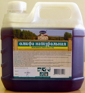 Олифа - проверенное временем средство для защиты древесины.