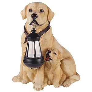 Оригинальный садовый фонарь собака