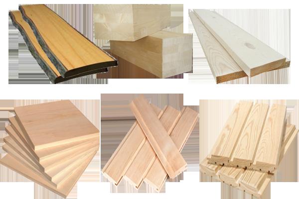 Основные разновидности пиломатериалов