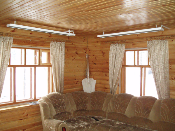 Панели можно прикрепить на потолок, и они не будут мешать при передвижении и расстановке мебели