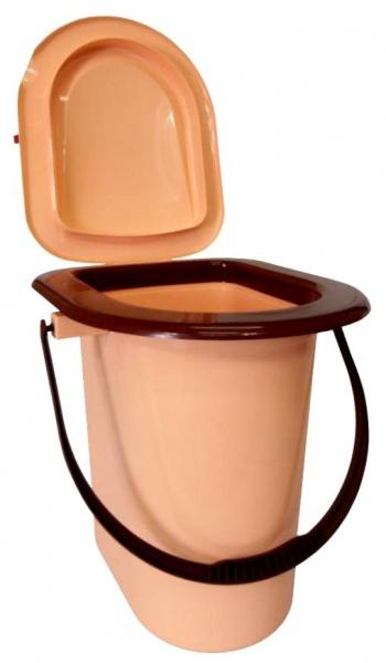 Пластиковый туалет ведро для дачи
