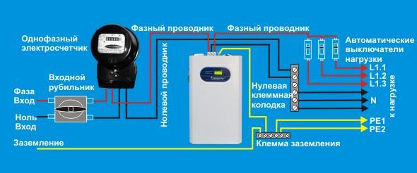 Подключение стабилизатора в домашней цепи