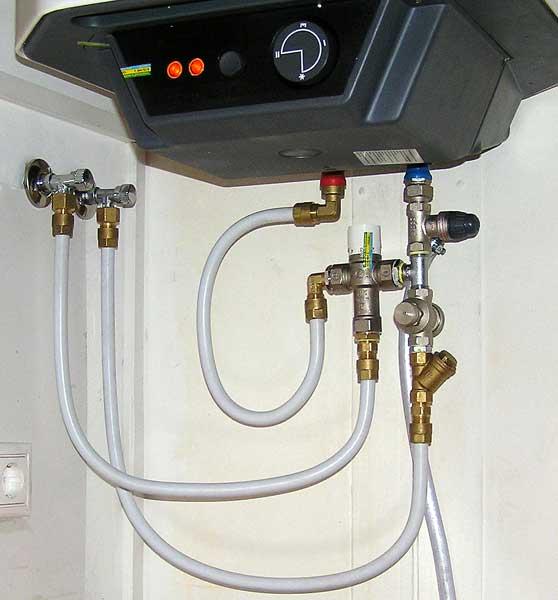 Подключение водонагревателя к водопроводной сети на даче