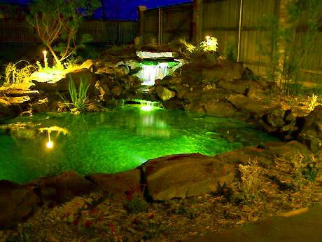 Подсветка декоративного пруда