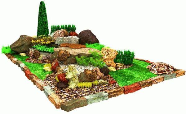 Пример декорирования загородного участка