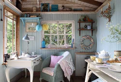 Пример оформления комнаты в деревенском стиле