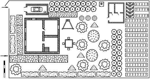 Пример подходящей схемы застройки дачного участка