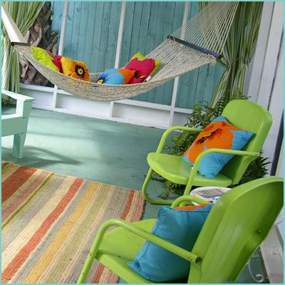 Пример цветового оформления летней веранды