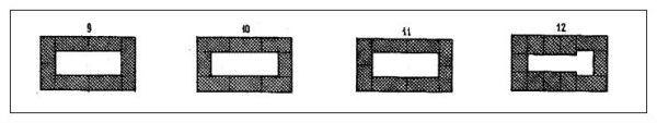 Продолжение укладки рядов с 9 по 12