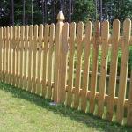 Простой деревянный забор своими руками