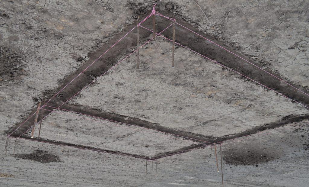 Разметка фундамента под баню