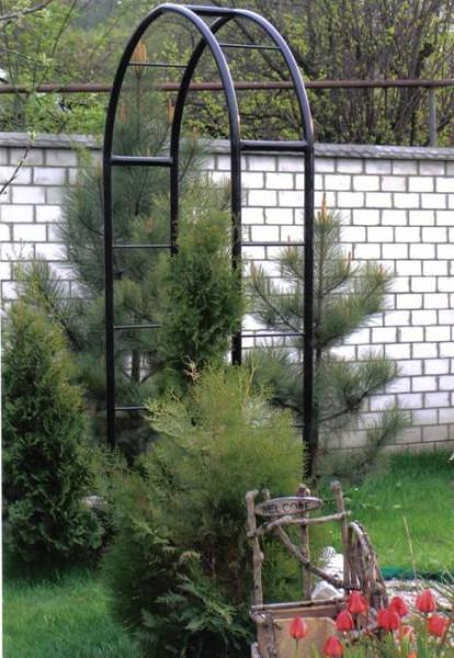 Садовая металлическая арка своими руками – это не так сложно, как кажется на первый взгляд