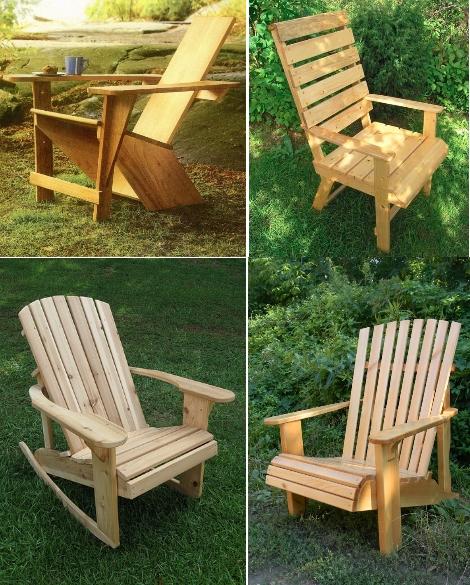Садовые кресла из дерева для дачного участка