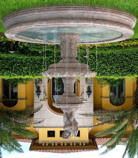 Садовый фонтан вызывает только положительные эмоции