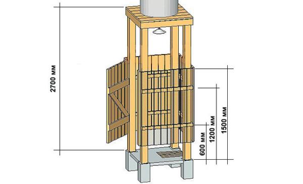 Схема изготовления кабины из деревянного бруса и обрезной доски