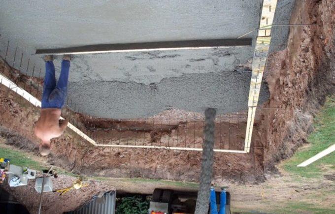 Следует подготовить бетонное основание