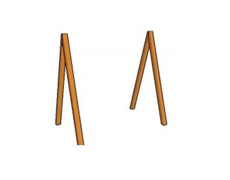 Соединяем брусья в форме буквы «Л».