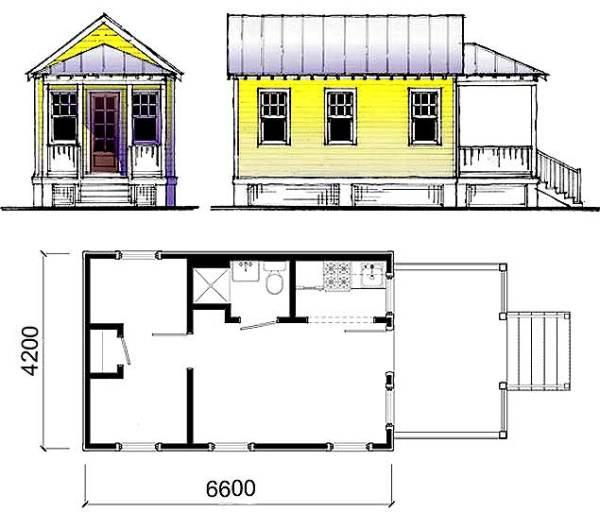 Типовой проект дачного домика
