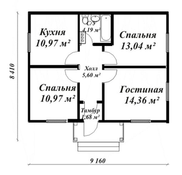 Типовой проект загородного дома