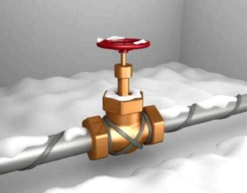 Утепление трубы электрическим кабелем.