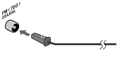 В зоне уверенного приема может использоваться обычная FM антенна.