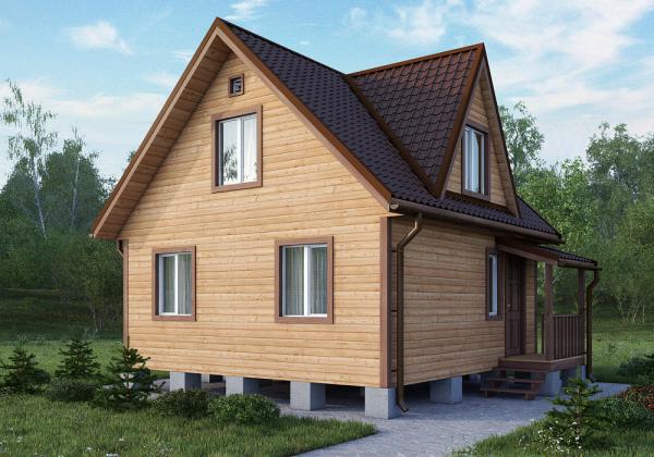 Вариант изготовления крыши при наличии мансарды