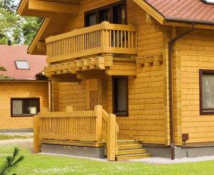 Варианты крыльца для дачи из древесины
