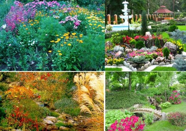 Виды садовых композиций для загородного участка