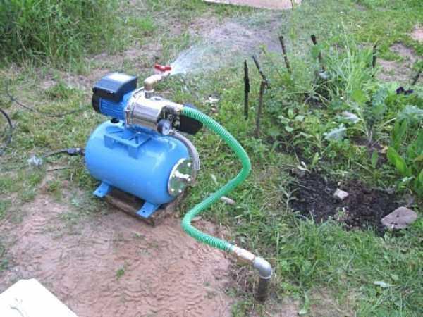 Временное расположение насосной станции для полива участка