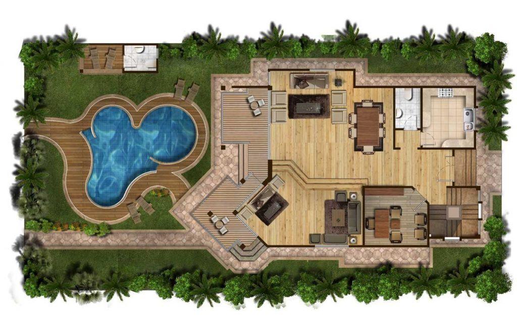 Выбирать место для бассейна нужно еще на этапе создания ландшафтного дизайна