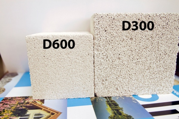 Здесь хорошо видна разница в структуре между разными марками плотности.